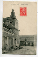 37 DRUYE La Rue De L'Eglise 1920 Edit Golleau  D11  2021 - Other Municipalities