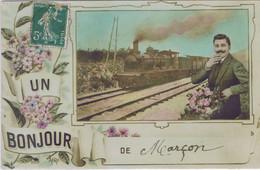72 - Marçon (Sarthe) - Un Bonjour De Marçon - Andere Gemeenten