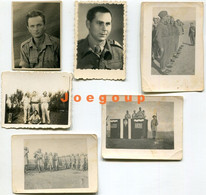 Lot 6 Photos Military Polish Army Soldiers 1942 - War, Military