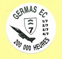 AUTOCOLLANT STICKER- GERMAS EC - 200 000 HEURES - AVION - AVIATION - AERONAUTIQUE - Stickers
