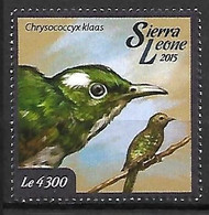 Sierra Leona - MNH ** 2015 :      Klaas's Cuckoo -   Chrysococcyx Klaas - Kuckucke & Turakos