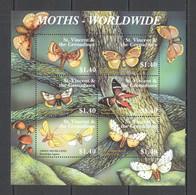 YY004 ST. VINCENT BUTTERFLIES MOTHS WORLDWIDE FLORA & FAUNA KB MNH - Butterflies
