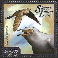 Sierra Leona - MNH ** 2015 :    Common Cuckoo  -  Cuculus Canorus - Kuckucke & Turakos
