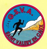 AUTOCOLLANT STICKER G.S.V.A. - GASEG SAINT-VALERY ATHLETISME - SAINT VALERY EN CAUX - SEINE-MARITIME - NORMANDIE - SPORT - Pegatinas