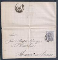 Carta Do Porto, Por Coimbra, Para Abraveia De Poiares, Stamp 25 Rs D. Luís I De Perfil De 1881. - Lettere