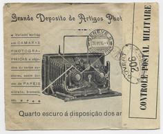PORTUGAL 5CX2 LETTRE REC COVER ENTETE BAZAR PHOTO GRAPHICO PORTO 1916 TO SUISSE CENSURE 206 - Cartas