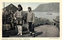 Grönland, Grönländische Schönheit Und Ihr Bruder, Holstenborg, Phot. Dr. Arnold Heim - Groenlandia