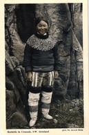 Grönland, Eskimofrau, Mathilde In Umanak, NW Grönland, Phot. Dr. Arnold Heim - Greenland