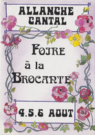 ALLANCHE 1989 13e Edition Foire à La Brocante - Allanche