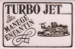 2 JETONS DE MANEGE ENFANTIN (1 Vert Et 1 Jaune) - Bon Pour 1 Tour - Non Remboursable - 6.4 X 4.2 Cm - Unclassified