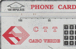 Cape Verde - CTT Cabo Verde - Red Logo (100 Impulsos) - 304C - Cape Verde