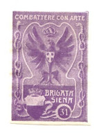 ITALIE - VIGNETTES DE GUERRE :  COMBATTERE CON ARTE - BRIGATA SIENA - Erinnofilia
