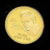 1 Pièce Plaquée OR ( GOLD Plated Coin ) - Elvis Presley - Other Coins