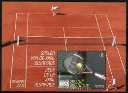 Blok 157** Olympex - Bloc 157 MNH Peking 2008 - Jeux Olympics Tennis Kim Clijsters-Henin 3799** - Libretti 1962-....