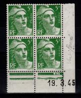 Coin Daté YV 719 N** Gandon Du 19.3.45 - 1940-1949