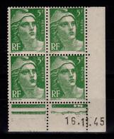Coin Daté YV 719 N** Gandon Du 16.11.45 - 1940-1949