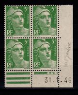 Coin Daté YV 719 N** Gandon Du 31.1.46 - 1940-1949
