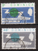 Dominica 1965 Set Of Stamps To Celebrate Centenary Of ITU In Fine Used - Dominica (...-1978)