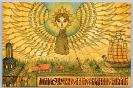 SLAVIC RUS Ethnic SWA BIRD Paganism Ancient Russia Fantasy New Postcard - Cuentos, Fabulas Y Leyendas