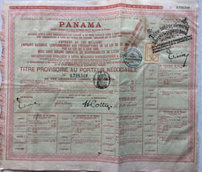 FISCAUX FRANCE OBLIGATION 60 F  CANAL DE PANAMA 1888 - Fiscale Zegels