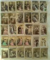 LOT DE 90 CPA FANTAISIE COUPLE Amour Femme Mode Mariage Photomontage Série - Couples