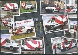 Blok 205** Postvoertuigen Van Tegenwoordig Met 4312/13** Voitures Pour B-post - Bestelwagens - Bloques 1962-....