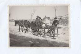 11676.  Fotografia Vintage Sci Sciatori Su Slitta Per Trasporto Anni '30 Italia - 11,5x8 - Sport