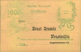 1900, Vordruckkarte Einer Lotterie-Annahme Im Stil Der Jahrhundertkarte - Stamped Stationery