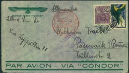 1933, LZ 127, 6 Südamerikafahrt, Rückfahrt, Brasilianische Frankatur - Zeppelins