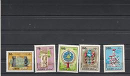 Jeux échecs - LIBAN 1980 5 Timbres  ** Neufs Sans Charnière - Echecs