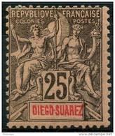 Diego Suarez (1893) N 45 * (charniere) - Unused Stamps