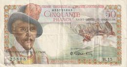 50 Francs Belain D'Esnambuc SAINT PIERRE ET MIQUELON 1946 P.25 RRR - Altri – America
