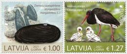 Latvia.2021.Europa CEPT.Endangered National Wildlife.2 V. ** . - 2020