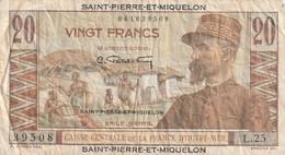 20 Francs Emile Gentil  SAINT PIERRE ET MIQUELON 1946 P.24 RRR - Other - America