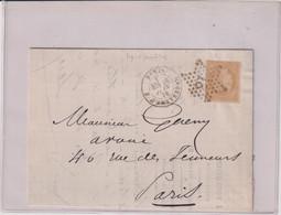 TP N° 55-L.-papier Jaunatre ETOILE 18-CAD PARIS Bd D'amsterdam-1872 - 1849-1876: Période Classique
