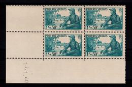 Coin Daté YV 452 N** Soldats , Date Mal Imprimée , Coin Daté Semble Etre Du Du 13.1.40 - 1940-1949