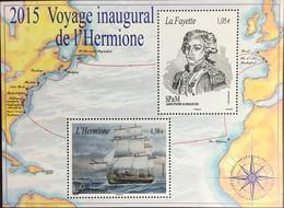 St Pierre & Miquelon 2015 Voyages Of Hermione Ships Minisheet MNH - Non Classificati