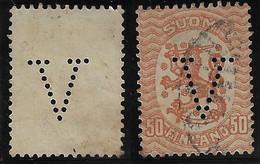 Finland 1914 / 1920 Perfin V From Försäkringsbolaget VerdandiInsurance Company FromÅbo / Turku - Sonstige