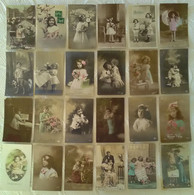TRES JOLI LOT DE 80 CPA FANTAISIE SUR LE THEME DES ENFANT S Bébé Fillette Garçon Portrait Mode Photomontage Enfant Girl - Collections, Lots & Series