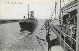 EGYPTE , ALEXANDRIE , Le Canal De Suez , Messageries Maritimes , *  452 74 - Suez