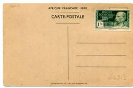 Thème Général De Gaulle - France Libre - AEF Surcharge 24-10-40 Yvert 140C  - R 6219 - Personaggi Storici