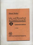 Livre Apprentissage Stenographie 1943 - School Books