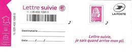 Timbre De Lettre Suivie, Marianne L'engagée Yseult YZ - 2018-... Marianne L'Engagée