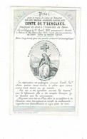 COLOGNE / BONN - Franz Comte De T'SERCLAES - étudiant - °1850 Et +1870 - (carte Porcelaine) - Devotieprenten