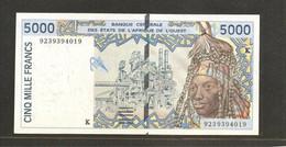 Etats D'Afrique De L'Ouest, 5,000 Francs, K For Senegal - West African States