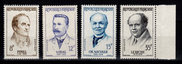 YV 1142 à 1145 N** Medecins Cote 6 Euros - Unused Stamps