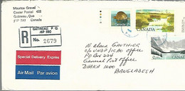 58047)  Canada Registered Special Delivery Air Mail  Postmark Cancel 1989 - Luftpost-Express