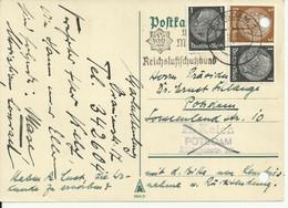 """Postkarte Potsdam. """"Werdet Mitglied Im Reichsluftschutzbund"""" Maschinenwerbesempel. - Storia Postale"""