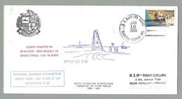 1988 COURRIER ANTARCTIQUE TRANSPORTÉ PAR VÉHICULE CHENILLÉ HB CASTOR ET AVION HERCULES C 130 - Covers & Documents