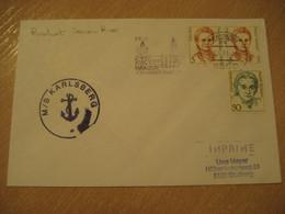 KARLSBERG MS Riverboat Donau River Ship Cover MAINZ 1989 Cancel GERMANY - Ships